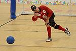 Bruno Hache, Toronto 2015 - Goalball.<br /> Canada's Men's Goalball team plays against Venezuela // L'équipe masculine de goalball du Canada joue contre le Venezuela. 10/08/2015.