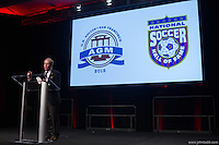 San Francisco, CA - Saturday Feb. 14, 2015: Kevin Payne at the 2014 US Soccer Hall of Fame Induction ceremony.