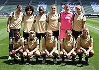 FC Gold Pride starting eleven. The LA Sol defeated FC Gold Pride of the Bay Area 1-0 at Home Depot Center stadium in Carson, California on Sunday April 19, 2009.  .