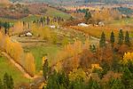 Town of Mosier in Autumn, Oregon
