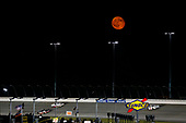 #18: Noah Gragson, Kyle Busch Motorsports, Toyota Tundra Safelite AutoGlass under the moon