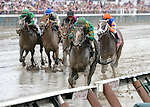 Honor Code (no. 6), ridden by John Velazquez and trained by Claude McGaughey III, breaks his maiden first time out on August 31, 2013 at Saratoga Race Course in Saratoga Springs, New York.  (Bob Mayberger/ Eclipse Sportswire)