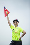 Cheerer on Speaker Car Ai Jen Tan poses for a photograph during the Wings for Life World Run on 08 May, 2016 in Yilan, Taiwan. Photo by Victor Fraile / Power Sport Images