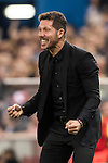 Coach Diego Simeone of Atletico de Madrid celebrates during their La Liga match between Atletico de Madrid and Granada CF at the Vicente Calderon Stadium on 15 October 2016 in Madrid, Spain. Photo by Diego Gonzalez Souto / Power Sport Images