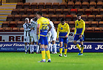 Dunfermline v St Johnstone…15.12.20   East End Park      BetFred Cup<br />Saints players reacts as Ian Wilson celebrates scoring the equalkiser<br />Picture by Graeme Hart.<br />Copyright Perthshire Picture Agency<br />Tel: 01738 623350  Mobile: 07990 594431