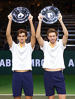 Rotterdam, The Netherlands, 18 Februari, 2018, ABNAMRO World Tennis Tournament, Ahoy, Doubles final, Winners: Pierre-Hugues Herbert (FRA) / Nicolas Mahut (FRA)<br />