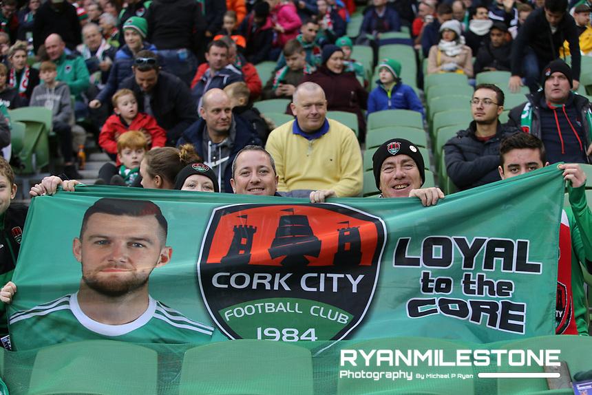 Cork City supporters ahead of the Irish Daily Mail FAI Cup Final between Dundalk and Cork City, on Sunday 4th November 2018, at the Aviva Stadium, Dublin. Mandatory Credit: Michael P Ryan.