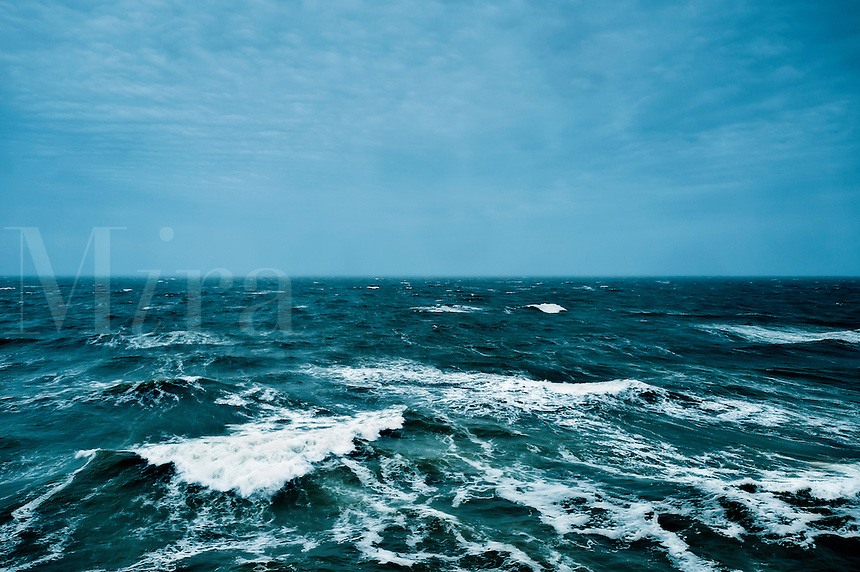 Rough ocean waters.