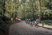 the breakaway group hitting some cobbles<br /> <br /> 60th De Brabantse Pijl 2020 - La Flèche Brabançonne (1.Pro)<br /> 1 day race from Leuven to Overijse (BEL/197km)<br /> <br /> ©kramon