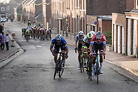Florian Sénéchal (FRA/Deceuninck - Quick Step) attempting a final breakaway with 2km to go<br /> <br /> 53rd Le Samyn 2021<br /> ME (1.1)<br /> 1 day race from Quaregnon to Dour (BEL/205km)<br /> <br /> ©kramon