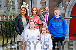 Noelle Connolly from Gaelsscoil Mhic Easmainn NS received her First Holy Communion in St John's Church on Saturday<br /> Front: Noelle and Lauren Connolly.<br /> Back l to r: Caitlin, Catherine, Issac, Declan and Cian Connolly.