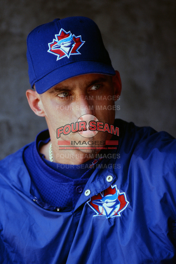 Billy Koch of the Toronto Blue Jays during a game against the Anaheim Angels at Angel Stadium circa 1999 in Anaheim, California. (Larry Goren/Four Seam Images)