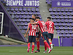 Atletico de Madrid's Mario Hermoso, Felipe Augusto, Jose Maria Gimenez and Angel Correa celebrate goal during La Liga match. May 22,2021. (ALTERPHOTOS/Alberto Simon)