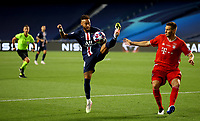 23rd August 2020, Estádio da Luz, Lison, Portugal; UEFA Champions League final, Paris St Germain versus Bayern Munich;  Neymar of Paris Saint-Germain looks to control the ball under pressure from Niklas Suele of FC Bayern Munich