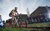 Klaas Vantornout (BEL) commiting to the rut<br /> <br /> Vlaamse Druivencross Overijse 2013