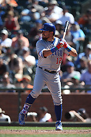 SAN FRANCISCO, CA - JULY 11:  Kyle Schwarber #12 of the Chicago Cubs bats against the San Francisco Giants during the game at AT&T Park on Wednesday, July 11, 2018 in San Francisco, California. (Photo by Brad Mangin)
