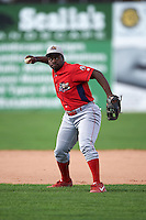 Williamsport Crosscutters second baseman Josh Tobias (33) during practice before a game against the Batavia Muckdogs on August 27, 2015 at Dwyer Stadium in Batavia, New York.  Batavia defeated Williamsport 3-2.  (Mike Janes/Four Seam Images)