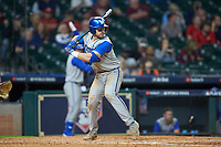 Kole Cottam (13) of the Kentucky Wildcats at bat against the Houston Cougars in game two of the 2018 Shriners Hospitals for Children College Classic at Minute Maid Park on March 2, 2018 in Houston, Texas.  The Wildcats defeated the Cougars 14-2 in 7 innings.   (Brian Westerholt/Four Seam Images)