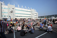 Pictured: Manic Street Preacher fans Saturday May 2016<br /> Re: Manic Street Preachers at the Liberty Stadium, Swansea, Wales, UK