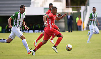 TUNJA -COLOMBIA-15-MAYO-2016. Acción de juego entre  Patriotas FC con el Nacional durante partido por la fecha 18 de Liga Águila I 2016 jugado en el estadio La Independencia./ Actions game between  Patriotas FC and Nacional during the match for the date 18 of the Aguila League I 2016 played at La Independencia stadium in Tunja. Photo: VizzorImage / César Melgarejo  / Contribuidor
