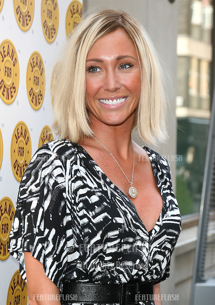 Jenny Frost arriving for the Jeans For Genes Celebrity Tee Party, at the Sanctum Soho Hotel, London.  22/06/2010  Picture by: Alexandra Glen / Featureflash