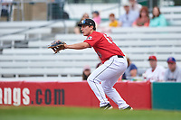 Billings Mustangs first baseman James Free (63) during a Pioneer League game against the Grand Junction Rockies at Dehler Park on August 14, 2019 in Billings, Montana. Grand Junction defeated Billings 8-5. (Zachary Lucy/Four Seam Images)