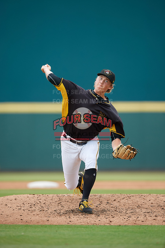 Bradenton Marauders relief pitcher Nick Mears (46) during a Florida State League game against the Palm Beach Cardinals on May 10, 2019 at LECOM Park in Bradenton, Florida.  Bradenton defeated Palm Beach 5-1.  (Mike Janes/Four Seam Images)