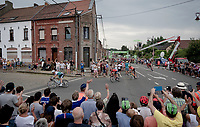 Peter Sagan (SVK/Bora-Hansgrohe) leading into the corner, ahead of Sonny Colbrelli (ITA/Bahrain-Merida) & Greg Van Avermaet (BEL/CCC)<br /> <br /> Stage 1: Brussels to Brussels(BEL/192km) 106th Tour de France 2019 (2.UWT)<br /> <br /> ©kramon