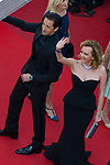 70eme Festival International du Film de Cannes. Montee de la ceremonie de cloture, vues du toit du Palais . 70th International Cannes Film Festival. Vew from rof top of closing red carpet<br />  Brody, Adrien; Scheufele-Gruosi, Caroline