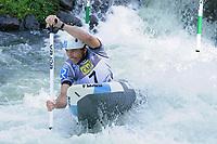 5th September 2021; Parc Olimpic del Segre, La Seu D'Urgell ICF Slalom World Cup, Men's Canoe Final; 2nd place for David Florence (GBR)