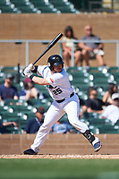 Surprise Saguaros Matt Whatley (25), of the Texas Rangers organization, at bat during the Arizona Fall League Championship Game against the Salt River Rafters on October 26, 2019 at Salt River Fields at Talking Stick in Scottsdale, Arizona. The Rafters defeated the Saguaros 5-1. (Zachary Lucy/Four Seam Images)