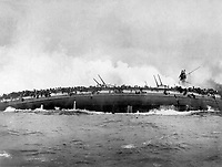Sinking of the German Cruiser Bluecher, in the naval enagement between German and British dreadnoughts in the North Sea, on Jan. 24, 1915.  This photo was taken from the deck of the British Cruiser Arethusia.  IFS. (War Dept.)<br /> NARA FILE #:  165-WW-539A-4<br /> WAR & CONFLICT BOOK #:  693