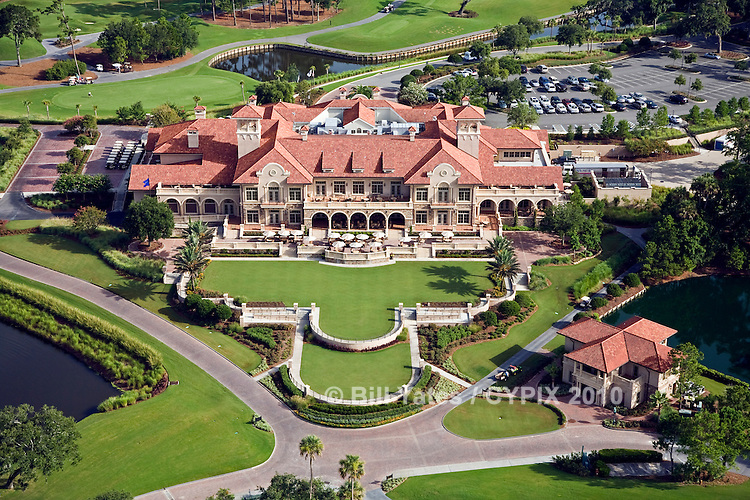 TPC (Tournament Players Club) Clubhouse, Ponte Vedra Beach, FL helicopter aerial
