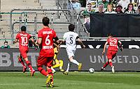 23rd May 2020, BORUSSIA-PARK, North Rhine-Westphalia, Germany; Bundesliga football, Borussia Moenchengladbach versus Bayer Leverkusen;  Leverkusens  Kai Havertz  shoots and scores past keeper Sommer for 0:1 in the 7th minute
