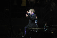2011  file photo  - Rock and roll Hall of Fame  - Elton John (L), Leon Russell (R)