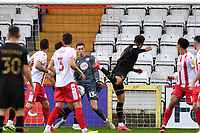 Carlton Morris of MK Dons F.C. scores the first Goal and celebrates during Stevenage vs MK Dons, EFL Trophy Football at the Lamex Stadium on 6th October 2020