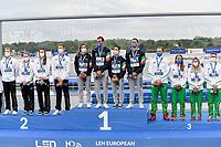 BRUNI Rachele, PALTRINIERI Gregorio, GABBRIELLESCHI Giulia, ACERENZA Domenico ITA Gold Medal<br /> Team Event 5 km <br /> Open Water<br /> Budapest  - Hungary  15/5/2021<br /> Lupa Lake<br /> XXXV LEN European Aquatic Championships<br /> Photo Andrea Staccioli / Deepbluemedia / Insidefoto