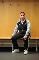 FAO SPORTS PICTURE DESK<br /> Pictured: Brendan Rodgers, manager of Premier League football side Swansea City FC in the away dressing room of the Liberty Stadium, south Wales. Thursday 12 January 2012