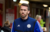 Christian Fuchs of Leicester City arriving pre match during the FA Cup 4th round match between Brentford and Leicester City at Griffin Park, London, England on 25 January 2020. Photo by Andy Aleks.