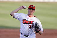 August 3, 2009: Carson Andrew of the Orem Owlz, Rookie Class-A affiliate of the Los Angeles Angels of Anaheim, during a game at the Orem Owlz Ballpark in Orem, UT. Photo by: Matthew Sauk/Four Seam Images