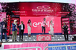 Race leader Egan Bernal (COL) Ineos Grenadiers retains the Maglia Rosa at the end of Stage 17 of the 2021 Giro d'Italia, running 193km from Canazei to Sega Di Ala, Italy. 26th May 2021.  <br /> Picture: LaPresse/Massimo Paolone   Cyclefile<br /> <br /> All photos usage must carry mandatory copyright credit (© Cyclefile   Massimo Paolone/LaPresse)