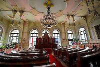 Art Nouveau (szecessziós Stilus) style town hall banquet hall (1912)  , Kiskunfélegyháza, Southern Hungary