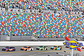 2017 NASCAR Cup - Clash at Daytona<br /> Daytona International Speedway, Daytona Beach, FL USA<br /> Sunday 19 February 2017<br /> Denny Hamlin, FedEx Express Toyota Camry, Daniel Suarez, ARRIS Toyota Camry, Kyle Busch, M&M's Toyota Camry and Matt Kenseth, Interstate Batteries Toyota Camry<br /> World Copyright: Nigel Kinrade/LAT Images<br /> <br /> ref: Digital Image 17DAY1nk04462