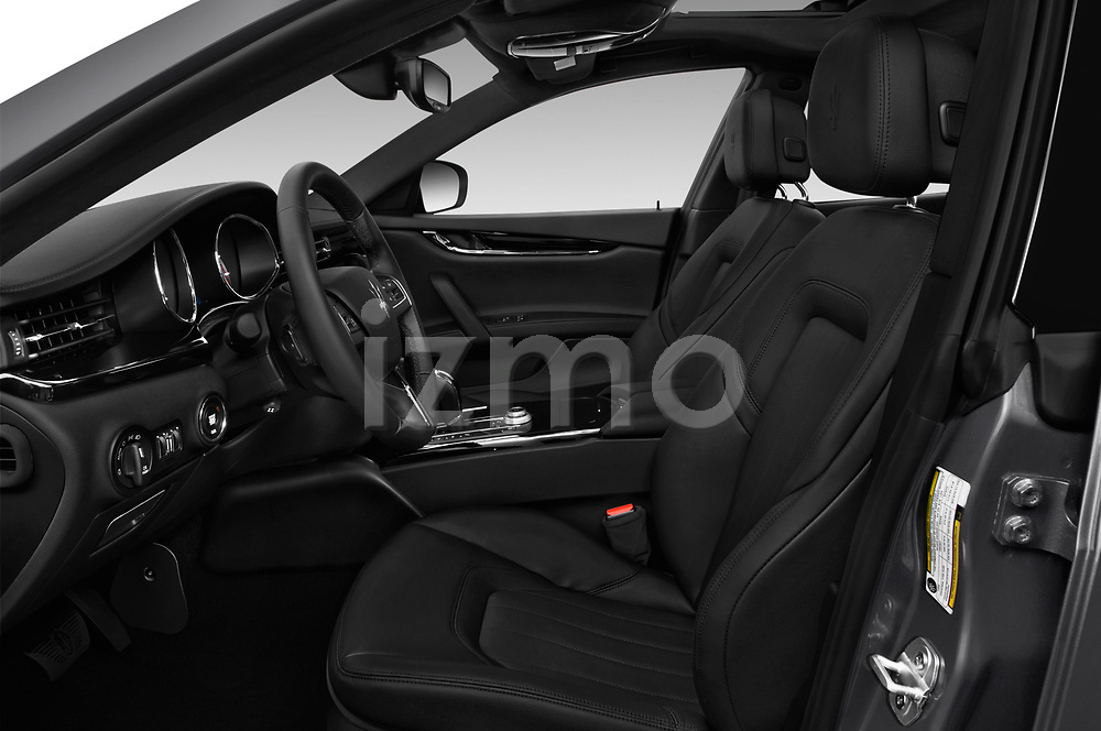 Front seat view of a 2018 Maserati Quattroporte S 2WD 4 Door Sedan front seat car photos