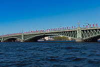 Palace Bridge Over Neva River, St Petersburg
