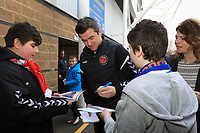 Fleetwood Town Manager Joey Barton' arriving for the Sky Bet League 1 match between Shrewsbury Town and Fleetwood Town at Greenhous Meadow, Shrewsbury, England on 1 January 2019. Photo by Leila Coker / PRiME Media Images.