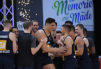 NZ Men's Junior Levi takes the court during the Cadbury Netball Series match between NZ Silver Ferns and NZ Men at the Fly Palmy Arena in Palmerston North, New Zealand on Thursday, 22 October 2020. Photo: Dave Lintott / lintottphoto.co.nz