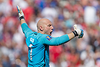 Nashville, TN - Saturday July 08, 2017: Brad Guzan during a 2017 Gold Cup match between the men's national teams of the United States (USA) and Panama (PAN) at Nissan Stadium.