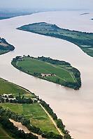 Europe/France/Aquitaine/33/Gironde/ Vue aérienne de l'Ile Margaux  et des Iles sur l' Estuaire de la Gironde