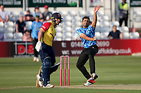 Ravi Bopara in bowling action for Sussex during Essex Eagles vs Sussex Sharks, Vitality Blast T20 Cricket at The Cloudfm County Ground on 15th June 2021